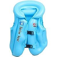 Chalecos Flotador,GZQ,Chaleco de Natación, Chaleco de Seguridad para Niños, Bebés (Azul, 1-4 edad)
