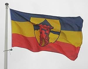 Flagge Fahne Delmenhorst, ca. 20 x 30 cm, 160 g/m² Polyesterwebware Premiumqualität