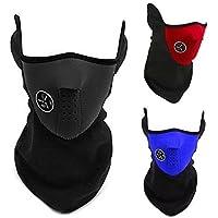 Bicicleta ciclo esquí máscara de calentador de cuello térmica invierno esquí prueba de viento de la motocicleta (negro)