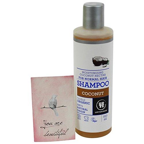 URTEKRAM - Kokos Shampoo - Natürliche Feuchtigkeit für normales Haar - BIO & VEGAN