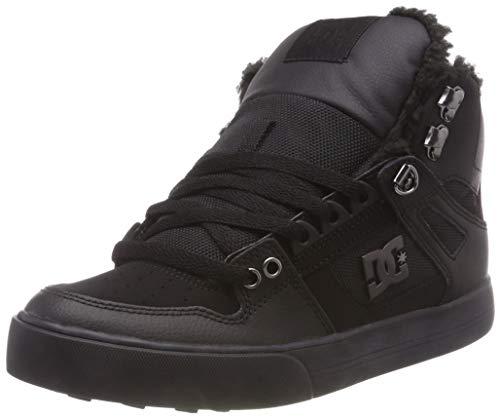 Schwarz Nubukleder Skate Schuhe (DC Shoes Herren Pure HIGH TOP WC Winter Skateboardschuhe, Schwarz (Black 3bk), 43 EU)