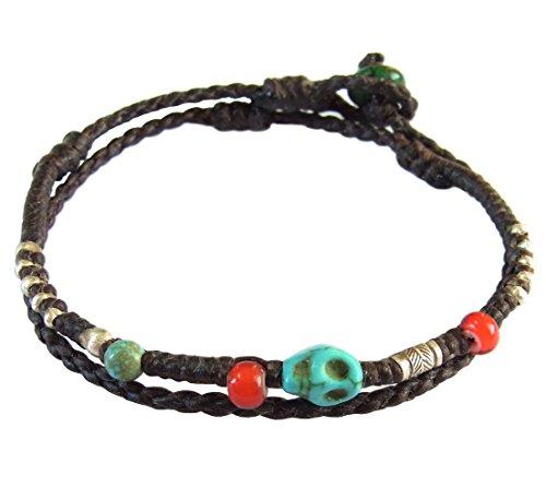 lun-na-asiatique-fait-main-bracelet-argent-925-perles-pierre-turquoise-tete-de-mort-white-heart-bead