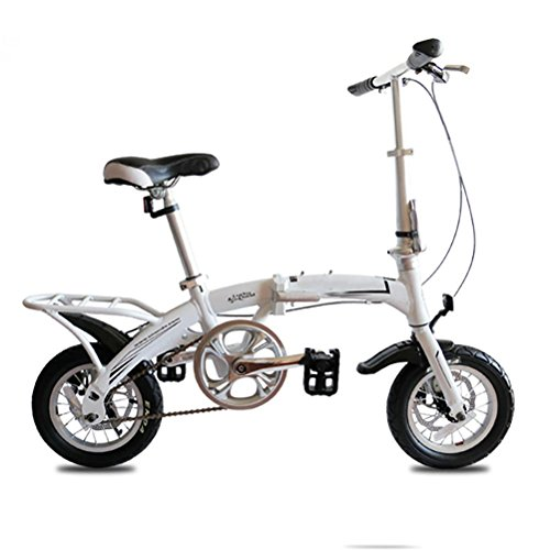 MASLEID 12 PULGADAS BICICLETA DE ALEACION DE ALUMINIO PLEGABLE DE FRENOS DE DOBLE DISCO ADULTO NIÑO MINI BIKE