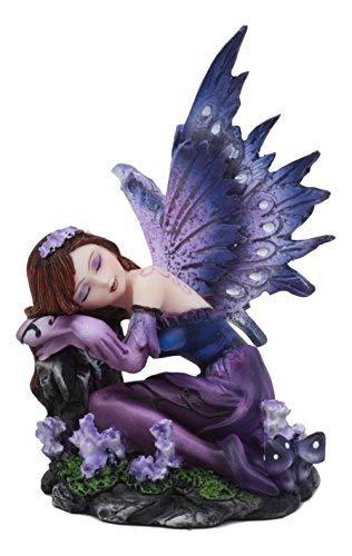 atue schlafender lila Lavendelmädchen, 11,4 cm hoch, Twilight FAE Pixie Fantasy Sammlerfigur ()