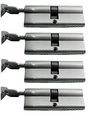 Preisvergleich Produktbild Schließanlage Gleichschließend 2, 3 oder 4-er Set in 70 mm (35x35) Doppelzylinder je mit 5 Schlüssel (4)