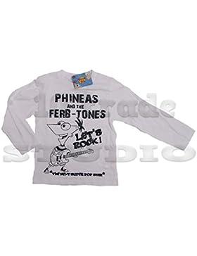 Disney's Phineas & Ferb Langarmshirt (8 Jahre, weiß)