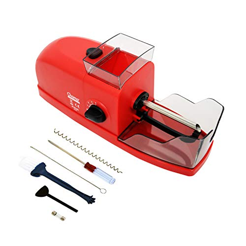 CHAMP - Tubeuse Electrique Rouge - Machine à Rouler Les Cigarettes – S'utilise avec Une Prise de Secteur - Plastique et Acier Inoxydable - Disponible en Noir et Rouge - Plastique - Rouge