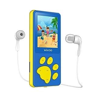 Lecteur MP3 Enfant, Dessin Animé Baladeur MP3 MP4 pour Enfants Bouton en Forme de Patte d'ours, écran LCD 1,8