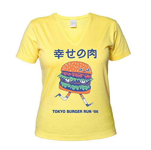 tokyo-burger-run-86-womens-v-neck-t-shirt-xx-large