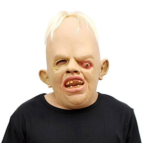 Lustige Einfache Kostüm Männliche - CreepyParty Halloween Kostüm Party Latex Menschliche Kopfmasken Goonies Sloth