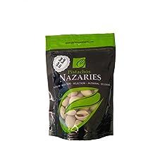 Pistachos Nazaríes - Pistachos Españoles de gran calidad, cuidadosamente seleccionados y tostados SIN SAL. Muy crujientes. (Pack de 4 bolsas de 120gr cada una).