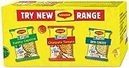 MAGGI 2-Minute Instant Noodles Box - Desi Cheesy Masala (4 Pack x 60.5g), Chatpata Tomato Masala (4 Pack x 60.