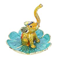 YU FENG Elephant Figurine Jewelry Ring Holder Dish