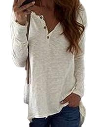 d37ecd3efc Amazon.it: maglia con bottoni - T-shirt, top e bluse / Donna ...