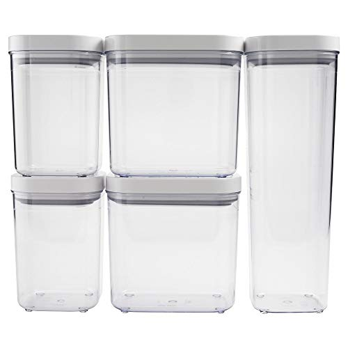 OXO SoftWorks POP Container Set - Clear/ White (5pc)