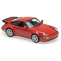 Maxichamps Porsche 911 Turbo (964), Color Rojo, 1:43 1990,