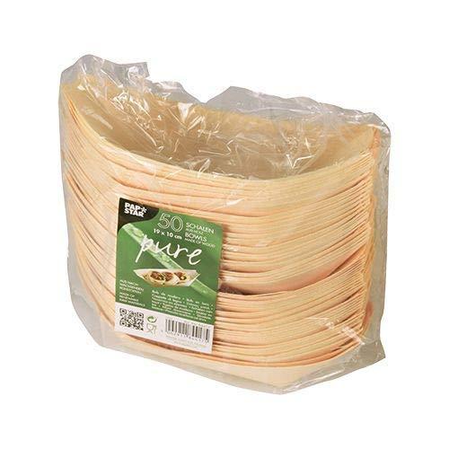 (Papstar Fingerfood Schalen / Holzschalen,