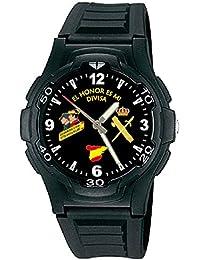 Reloj Q&Q Guardia Civil Correa Caucho Esfera Negra