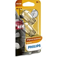 2x PHILIPS LONGLIFE ECOVISION GLÜHBIRNEN BLINKER BREMSLICHT 12V BAY15d P21//5W