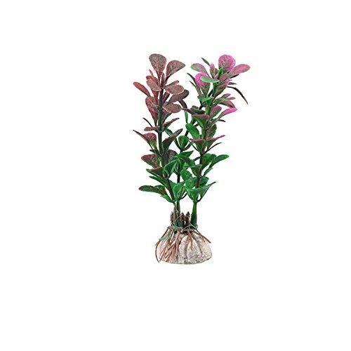 Lazzykit Aquarium Künstlich Plastik Pflanzen Gras Dekoration Fisch Tank Aqua Deko Ornamente Gefälschte Blume -