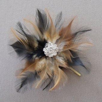 gioielli-capelli-plumes-piume-nere-e-marrone-a-forma-di-fiori-e-33-cristalli-swarovski-fissaggio-a-f