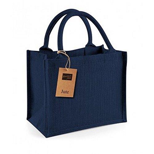 Westford Mill Jute-Tasche / Jute-Mini-Geschenktasche, 6 Liter (Einheitsgröße) (Marineblau/Marineblau)