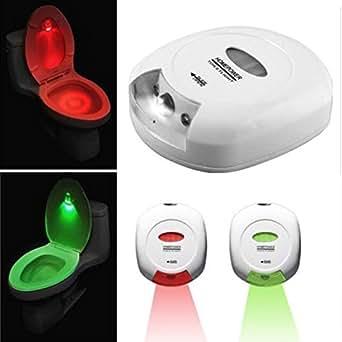 Decrescent Toilettes Veilleuse WC Détectrice de Mouvements aux LooLight LED pour des Déplacements Nocturnes Sûrs