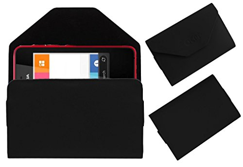 Acm Premium Pouch Case For Nokia Asha 501 Flip Flap Cover Holder Black  available at amazon for Rs.179