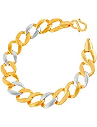 VK Jewels Good-looking Gold And Rhodium Plated Alloy Bracelet For Men & Boys [VKBR2359G]