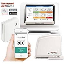 Evohome connected pack - Regulación inteligente de calefacción por zonas controlable desde un smartphone o tablet, en cualquier momento y desde cualquier ...