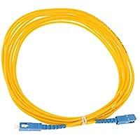 MagiDeal Sc-sc Doble Núcleo Fibra óptica Jumper Gota Cable Remiendo Línea Accesorios de Color Amarillo - Amarillo-5m