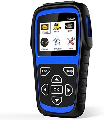 RTVZ Scanner Diagnostico OBD2 LUMNX-NL102P + FBA Scanner per per Auto Scanner con Dpf/Calibrazione Sensore/Ripristino Olio + Controllo Motore per Auto Camion 2 in 1 Lettore di Codice,Blu