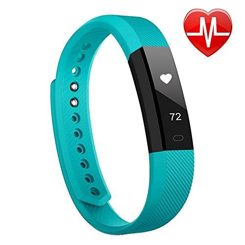 Lintelek Fitness Tracker Uhr mit Herzfrequenzmesser, schlanke Touchscreen und Armbänder, Tragbar Wasserdichte Aktivität Tracker Schrittzähler