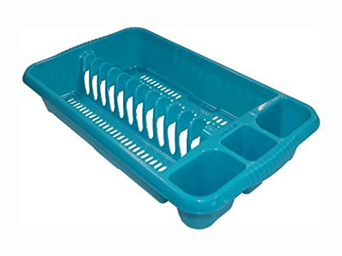 NEW QUALITY PLASTIC KITCHEN TEAL MEDIUM DISH DRAINER RACK PLATE HOLDER by ABC