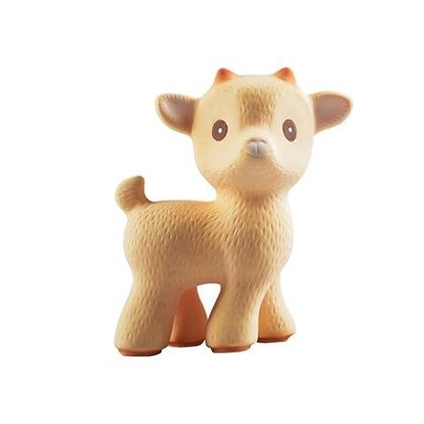 Sola la chèvre (Marron)–Bio dentition Jouet en caoutchouc naturel–sans additifs: 0% PVC, sans Bisphénol A, chimiques phtalates