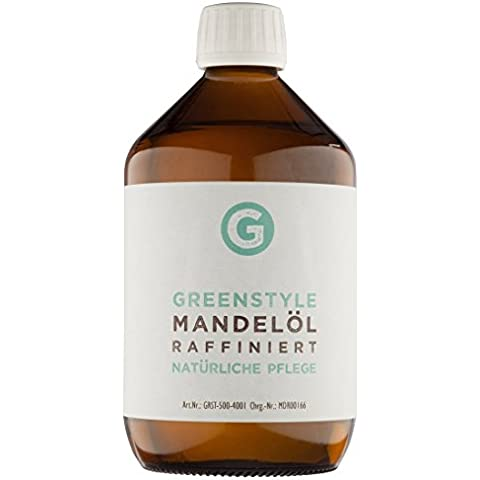 Olio di Mandorle Dolci (500ml) - puro olio base per la cura di pelle e capelli