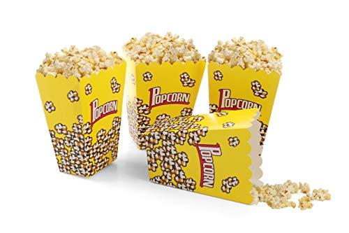 Komonee Faltbare Packung Kinder Popcorn-Boxen Gelb (12er Pack)