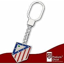 Llavero escudo Atlético de Madrid Plata de ley 24x29mm. [7051] - Modelo: 20-058