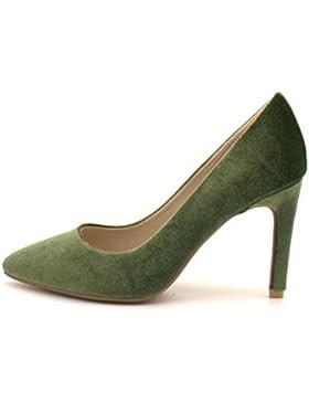 QPYC Le donne puntavano la bocca poco profonda le scarpe eleganti del tacco sottile i tacchi alti le scarpe comode...