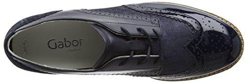 Gabor Damen Comfort 62.558 Brogue Schuhe Blau (ocean/navy 26)