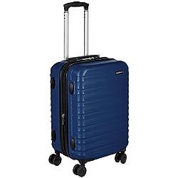 bbc77c4ab AmazonBasics - Maleta de viaje rígida giratori - 55 cm, Tamaño de cabina,  Azul