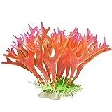 Berrose Aquarium Dekoration Goldfischglas Landschaftsbau Baum Lawn Künstliche Wasser-Wassergras Pflanze Landschaft Klein Kunststoff Pflanzen Aquariumpflanze Fisch Tank