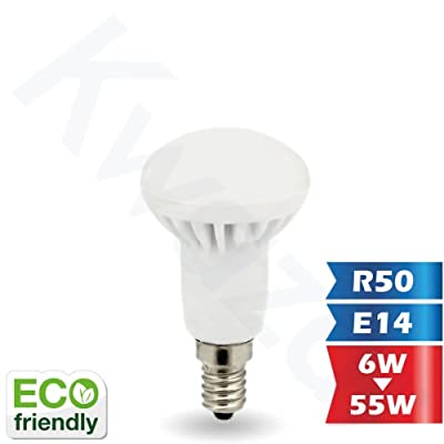 Kwazar Leuchte Leuchtmittel LED SMD Lampe 5W - 400lm (Ersetz 45W) R50 E14 230V Warmweiss 160° Abstrahlwinkel von Kwazar Leuchte bei Lampenhans.de