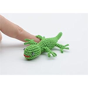Eidechse Spielzeug, kleine Gecko, Häkeln Eidechse, Ostern Geschenk, Amigurumi Wald, grüne Gecko, gefüllte Tier Puppe, Geschenk für Jugendliche und Erwachsene
