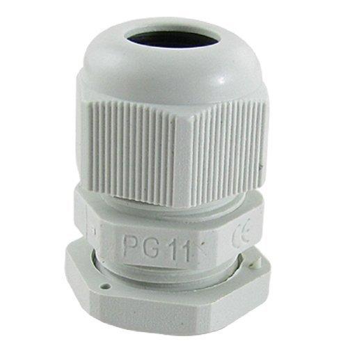10 Pcs plastique blanc PG11 étanche étoupes Connecteurs, Modèle: a11052800ux0096, Outils & Quincaillerie