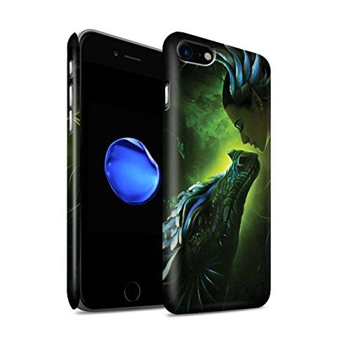 Officiel Elena Dudina Coque / Clipser Matte Etui pour Apple iPhone 7 / Écailles Vertes Design / Dragon Reptile Collection Écailles Vertes