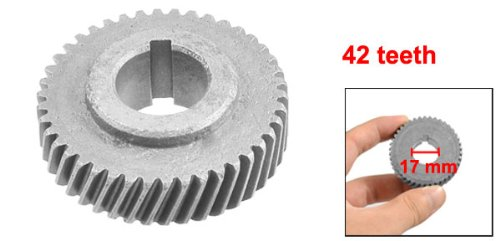 42-teeth Slot Centering Dark Gray Metal Gear for 1040 Electric Machine