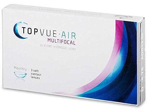 TopVue Air Multifocal Monatslinsen, 3 Stück / BC 8.6 mm