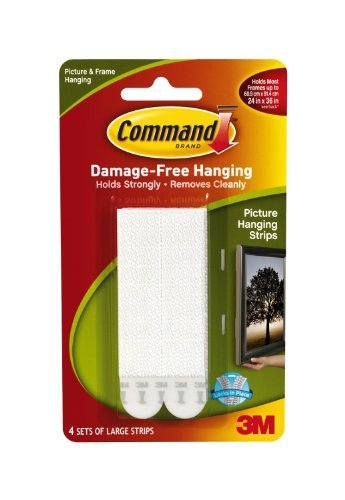 2x Command Large Picture Hanging Strips, 17206 (Each Pack contains 4 Sets) by Command