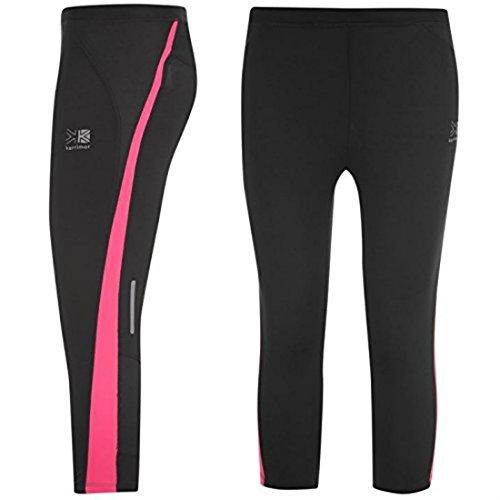 Karrimor Kids Run Capri Tights Girls Breathable Training Running Jogging Sport Black/Pink 13 (XLG)